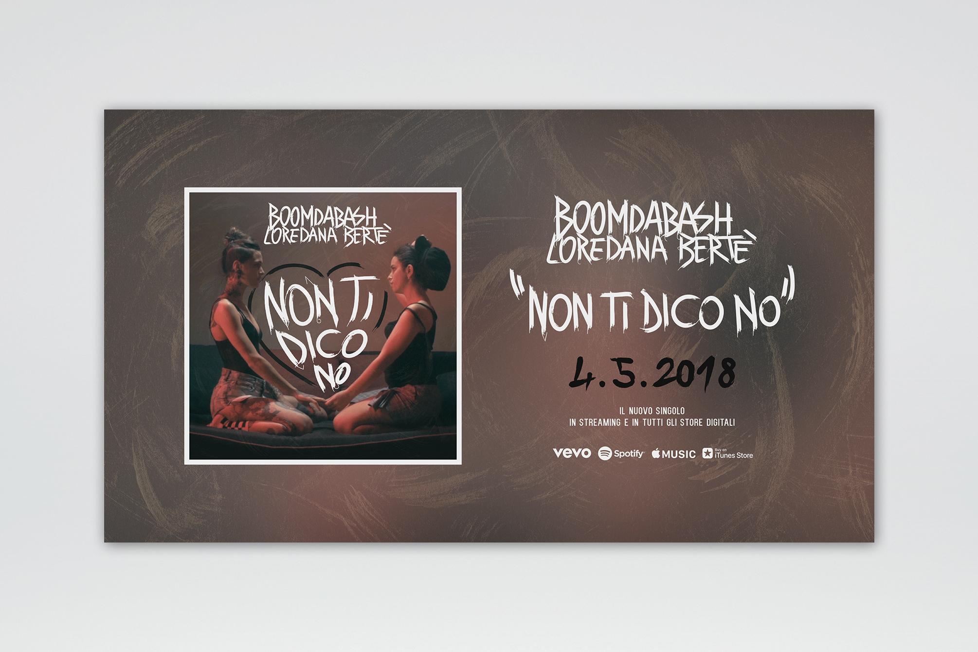 """Boomdabash & Loredana Bertè """"Non Ti Dico No"""" - Artwork Cover - img 2"""