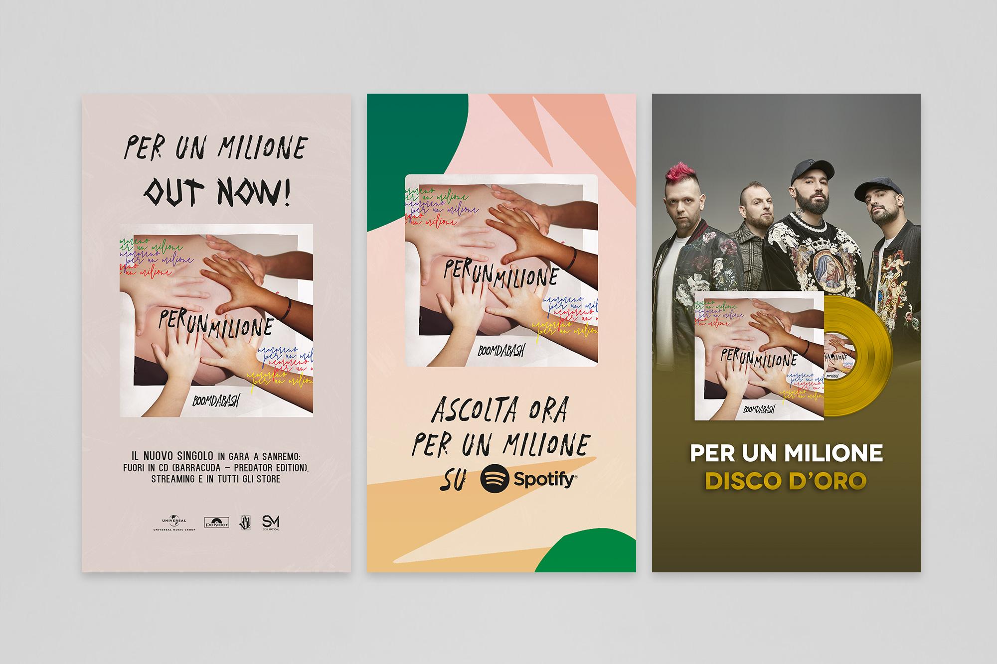 """Boomdabash """"Per Un Milione"""" – Artwork Cover - img 3"""