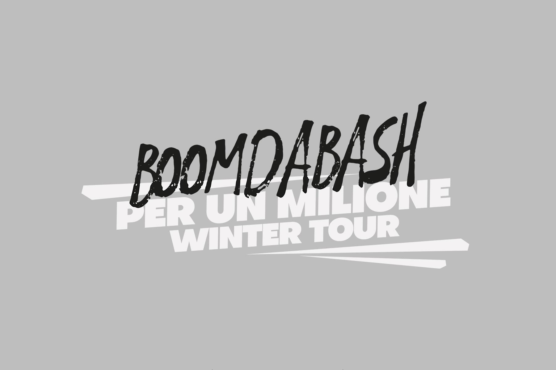 boomdabash per un milione tour