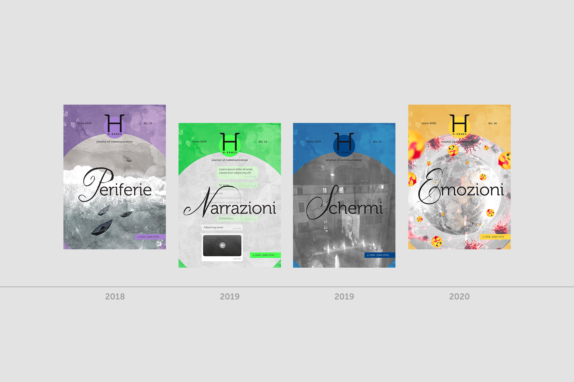 H-ermes – Logo, branding, journal cover - img 6