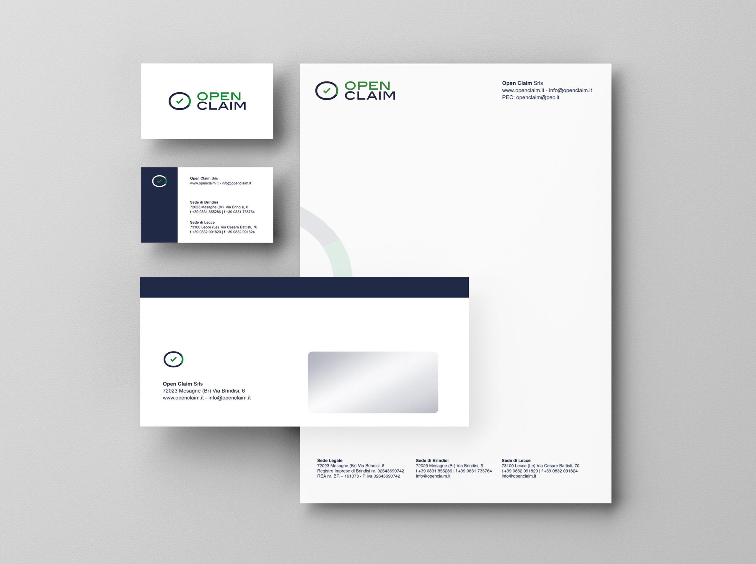 Open Claim - logo, branding, print - img 3