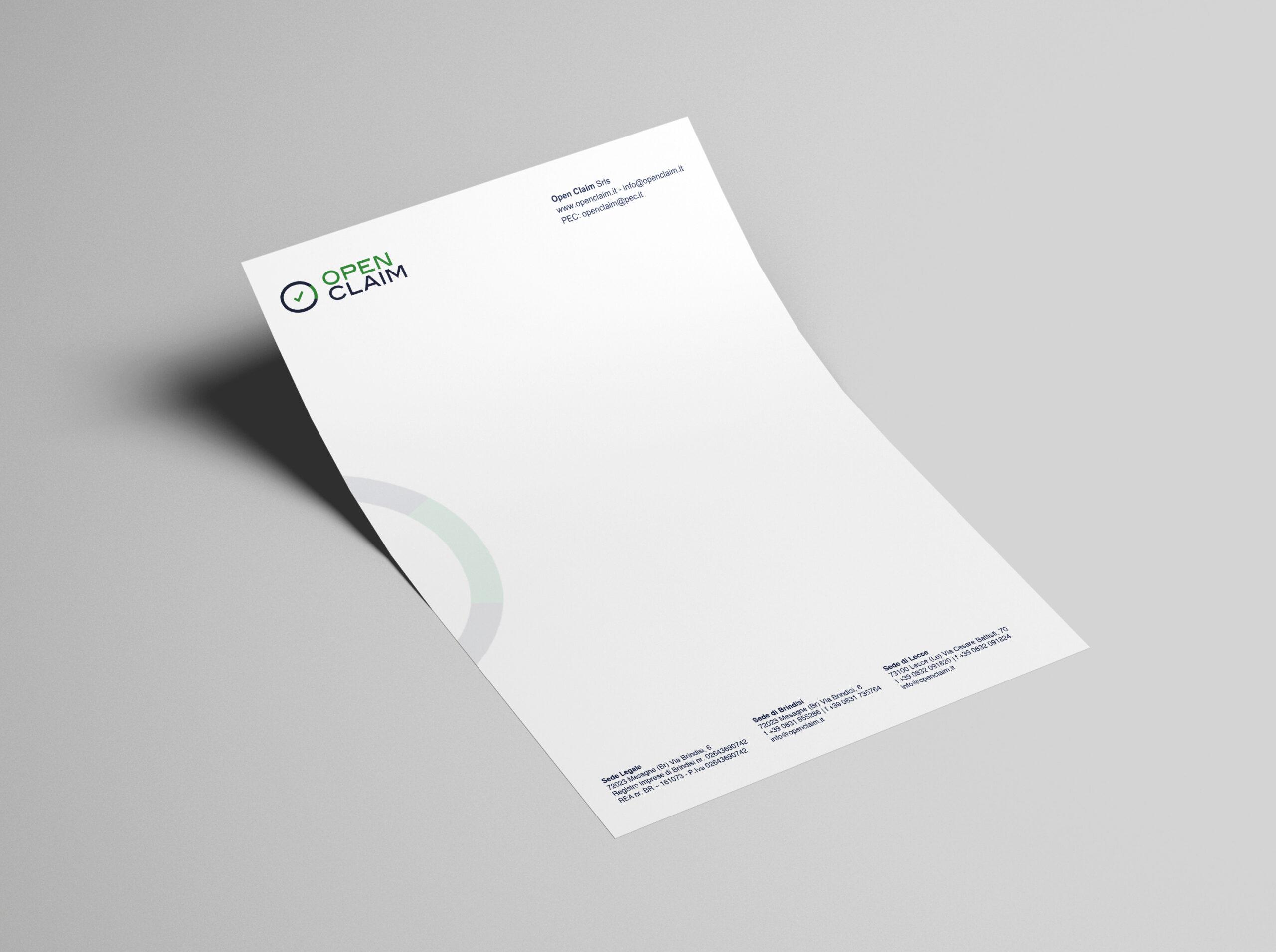 Open Claim - logo, branding, print - img 4