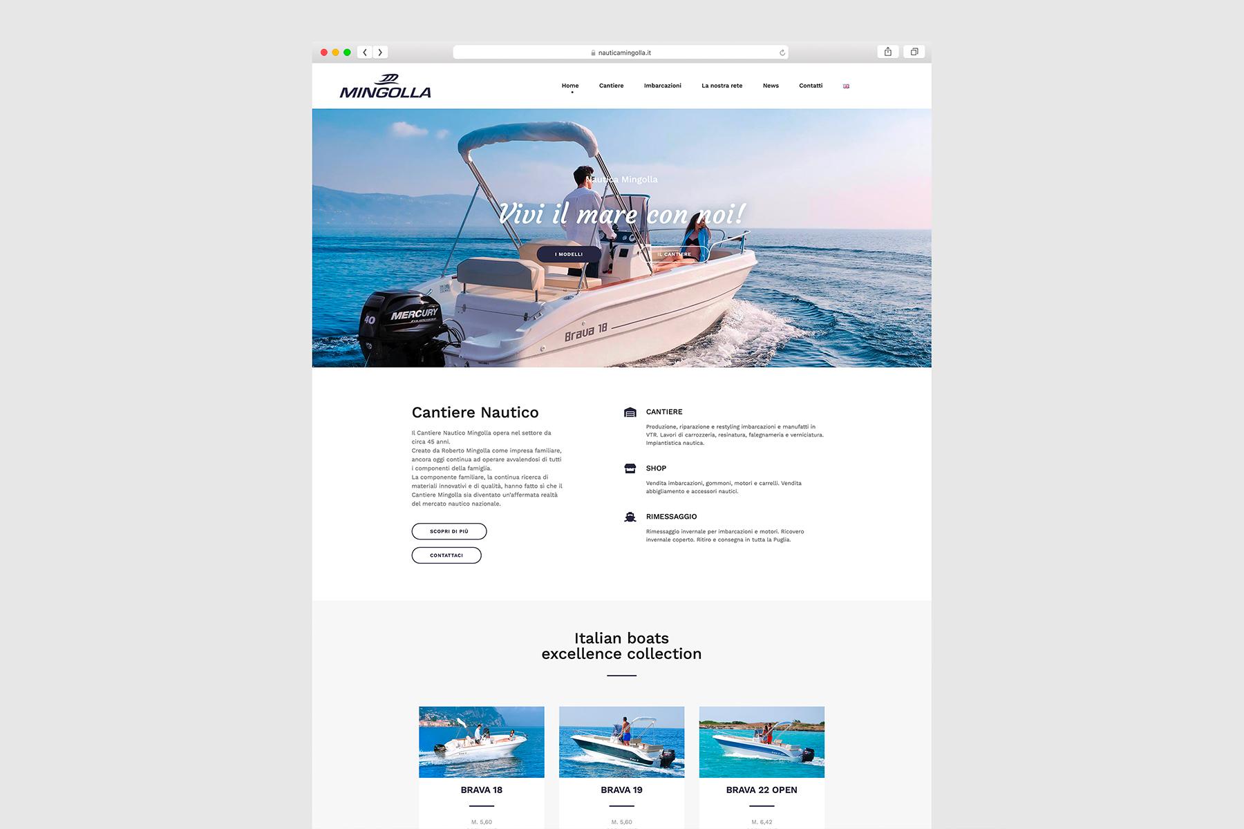 Nautica Mingolla sito web