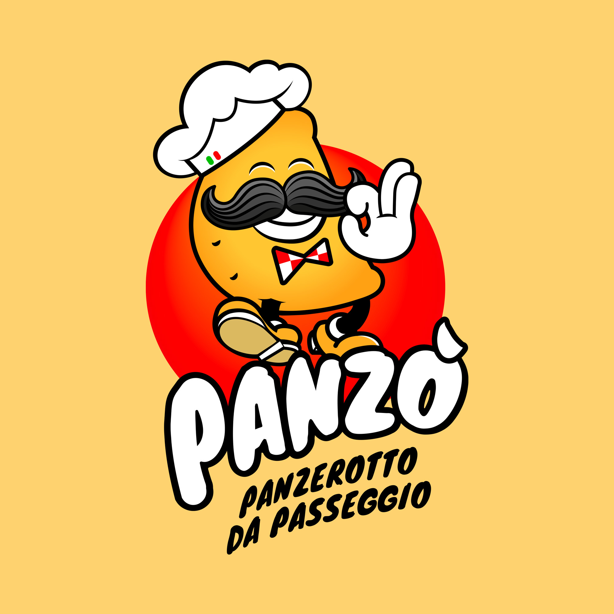 Panzò - Panzerotto da passeggio. logo by GGCA
