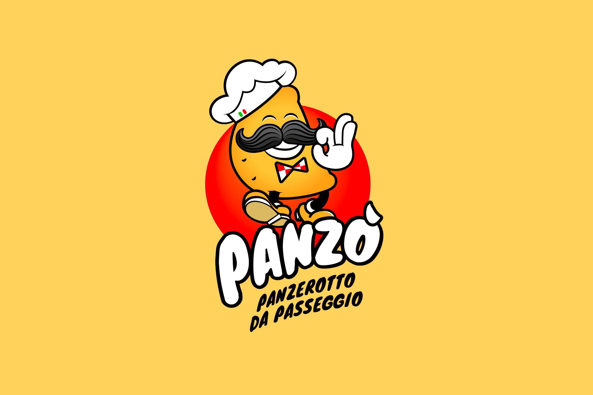 Panzò - Panzerotto da passeggio - logo, branding - img 1