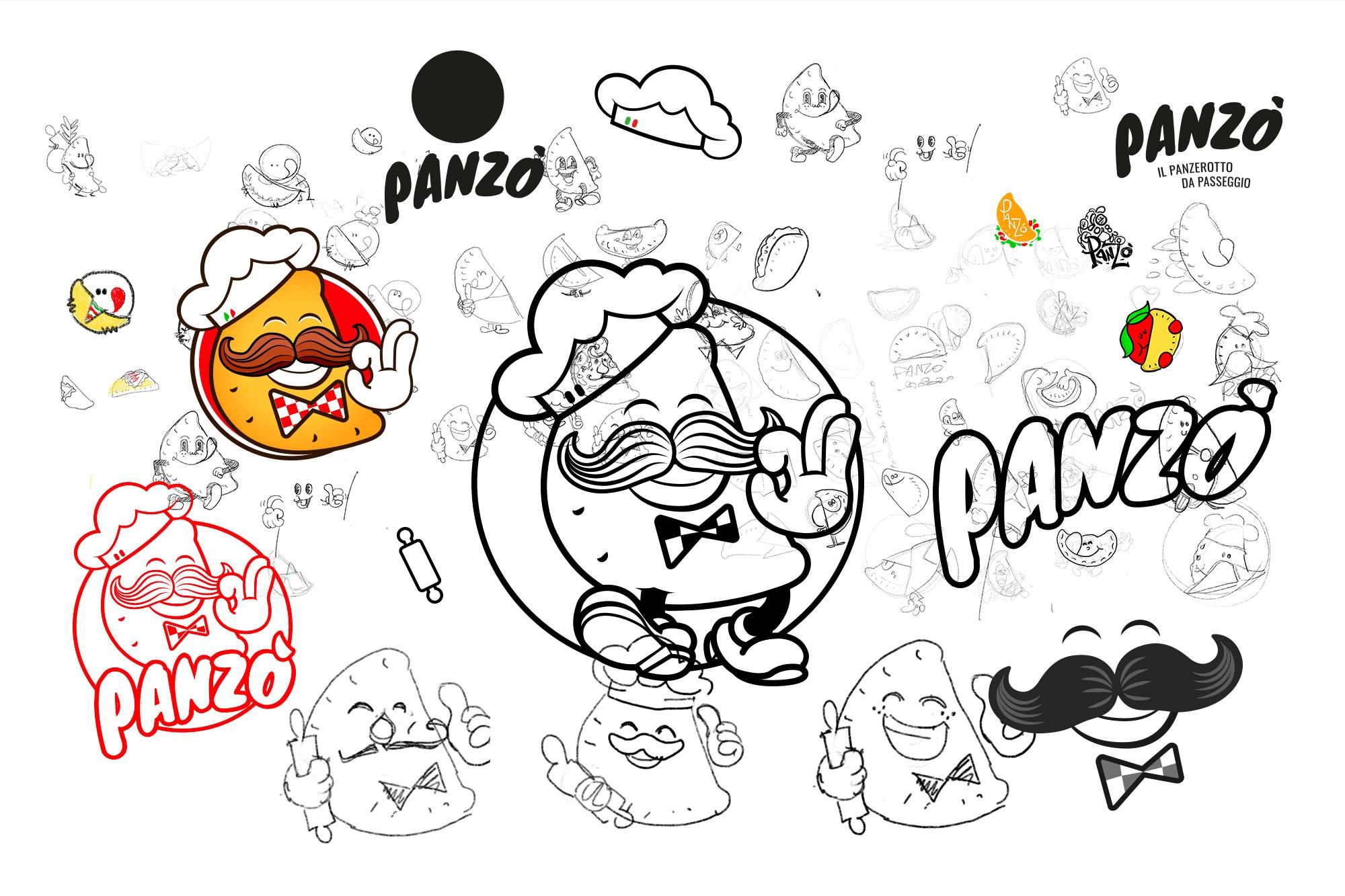 Panzò - Panzerotto da passeggio - logo, branding - img 2