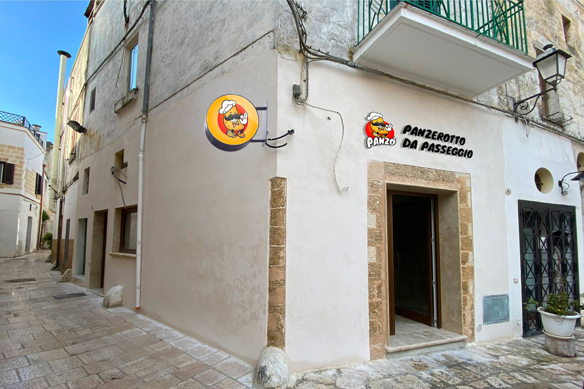Panzò - Panzerotto da passeggio - logo, branding - img 8